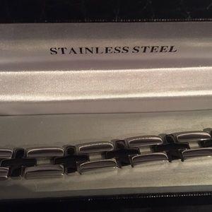 🆕Platinum & Titanium Style Bracelet